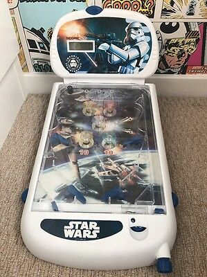 Star Wars Pinball Game Table Machine Lights and Sounds Battery Operated Used