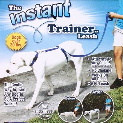 Instant Trainer Dog Leash Rope Walking Training 30 Lbs Stop Pulling Pet Dogs UK