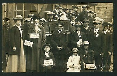 Postcard - Saltley Distress Fund, Birmingham - c1908 - Real Photo
