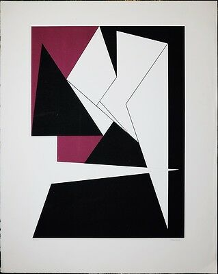 Vintage Prints Serigraph, Genevieve Claisse, French (1935 - ) Signed / Numbered
