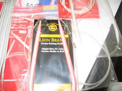 "Circular Knitting Needle Set of 11,Lion Brand,Aero,Inox, & 16 pieces 7"" needles"