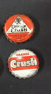 LOT of Orange Crush SODA cork lined crown caps  TORONTO CANADA bottle bottler