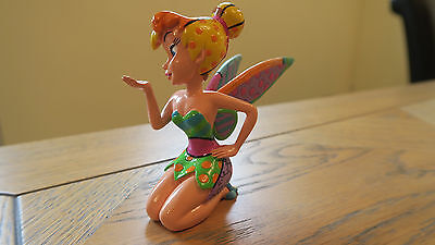 DISNEY BRITTO TINKER BELL PORCELAIN MINI FIGURINE 'Blowing a Kiss' (Boxed)