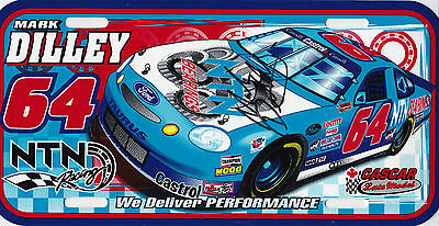 Autographed Nascar Cascar Racing Mark Dilley Plate Series Champion