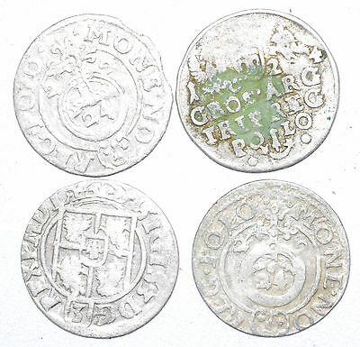 Lot Of 4 Medieval Silver Hammered Coins - Ancient Artifact Superb - H331