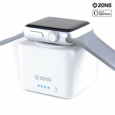 Apple Watch Dock Case Charger Wireless Power Bank Pocket iWatch Cube White New