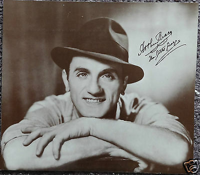 Arthur Tracy. The Street Singer. Hand Signed Autograph 11.1/2 x 10 Photograph