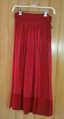 Vintage 80's monsoon gypsy/hippy wrap over skirt size 8