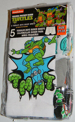 New Teenage Mutant Ninja Turtles Skateboard Boy Boxer Briefs Underwear Sz 2T 3T