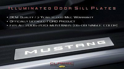 CDC 2005-2014 Fits Ford Mustang Illuminated Sill Plates 0511-7003-01a