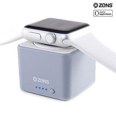 Apple Watch Charger Wireless Dock Apple iWatch Pocket Power Bank Holder Gray New