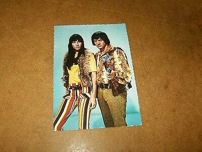 Ancienne carte postale / vintage postcard - SONNY AND CHER - 60/70's