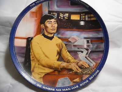 Star Trek TV Series Characters Collector Plates Hamilton Collection Set of Four