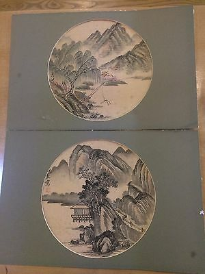 Two old Japanese watercolour paintings