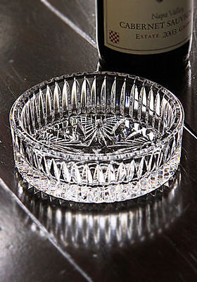Waterford Crystal Signed Best Wishes Wine Bottle Coaster, Brand New in Box