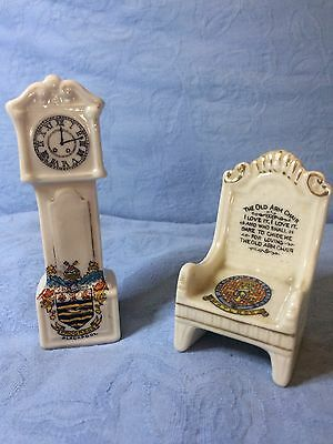 Two pieces of crested Ware - Blackpool and Matlock