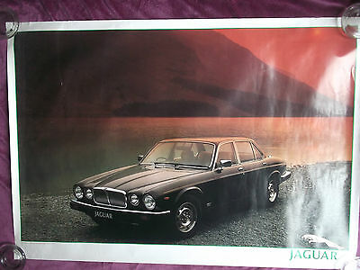 JAGUAR XJ6 1991/1992 ORIGINAL SHOWROOM POSTER -100cm x 70cm