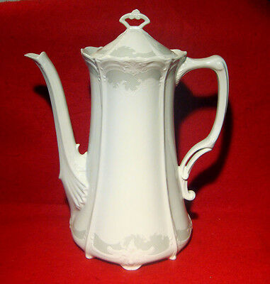 Tirschenreuth Bavaria Baronesse Orleans Coffee Pot Gray On White