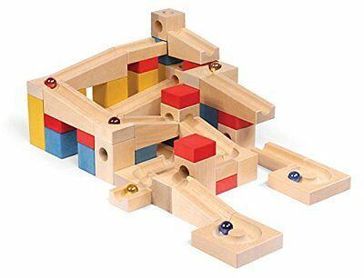 VARIS Wooden Marble Run XL, Early Learning Construction Toys for Kids, European