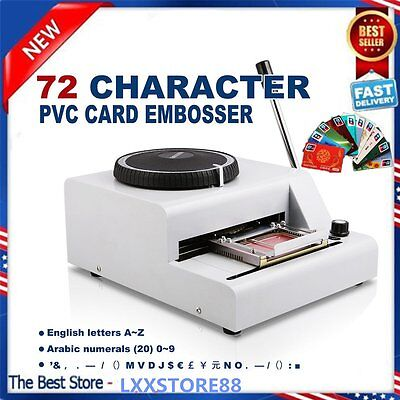 72-Letter Manual Embosser Machine PVC Gift Card Credit ID VIP Stamping Embossing