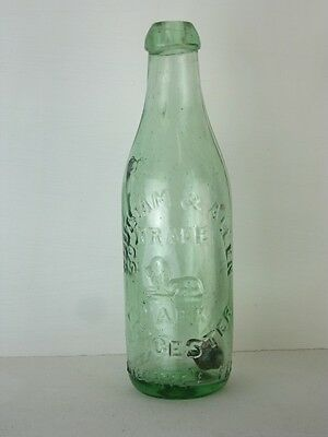 11299 Old Glass Bottle Codd Patent Sutcliffe's Stopper  Allen Leicester
