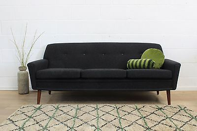Restored Original Danish Midcentury 1960s Vintage Three Seater Sofa