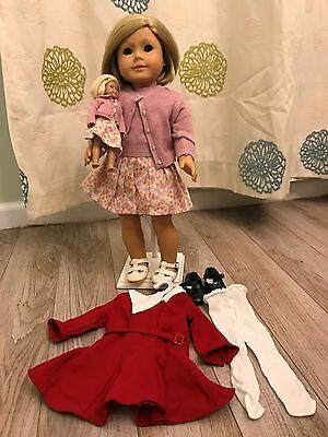 American Girl Pleasant Co. Kit Kittredge Doll and Mini Kit Extra Outfits
