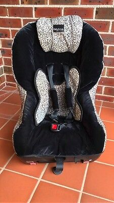Baby Love car seat black leaopard print