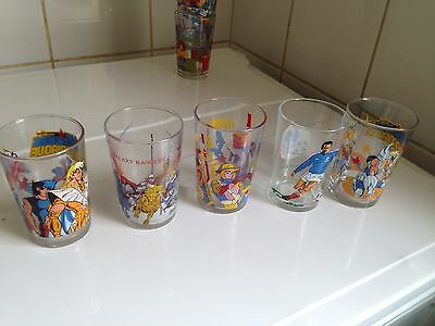 lot de 5 verres à moutarde anciens Chevaliers du Zodiaque Galaxy Rangers Foot