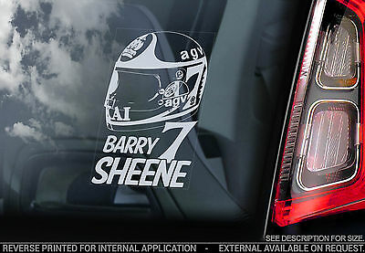 Barry Sheene #7- Car Window Sticker - HELMET Superbike World Motorbike Sign -V02