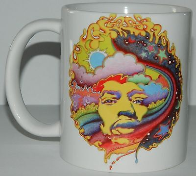 JIMI HENDRIX - BEAUTIFUL 11oz MUG WITH ORIGINAL 60's POP ART DESIGN & QUOTE