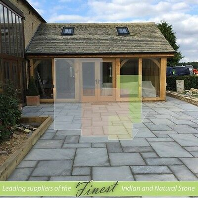 Sandstone Paving Slabs - Kandla Grey - 15 SQM - 25mm-35mm Varied Thickness