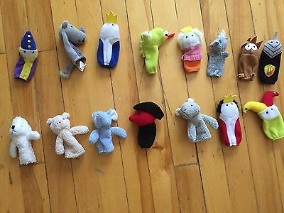 15 Assorted Finger Puppets
