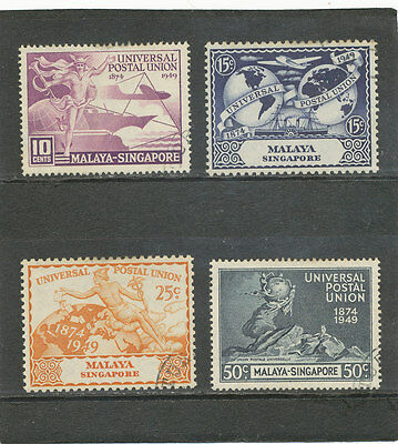 Singapore 1949 UPU Issue SG33-36 G-FU