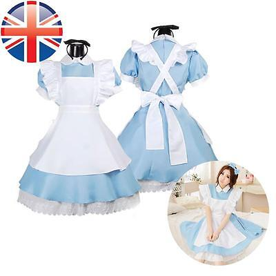 *UK Seller* Alice In Wonderland Costume Adult Fancy Dress Book Day 4 Sizes