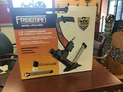 Freeman 3-in-1 Flooring Air Nailer and Stapler, PFL618BR