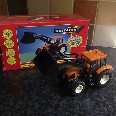 Britains Farm Toys Renault Cergos Tractor With Loader 1:32 Scale