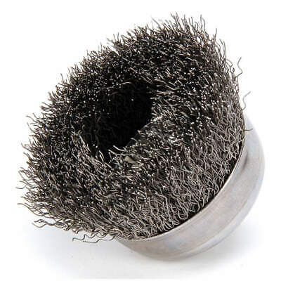 WEILER Crimped Wire Cup Brush,3 In.,0.014 In., 93243
