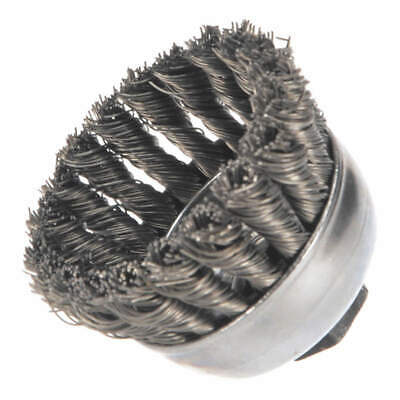 WEILER Knot Wire Cup Brush,Threaded Arbor, 94081