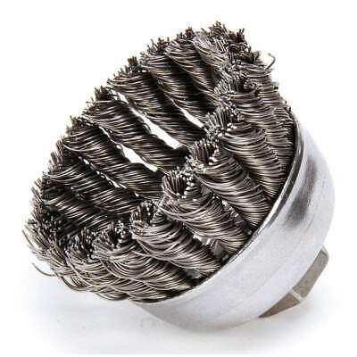 WEILER Knot Wire Cup Brush,Threaded Arbor, 94083