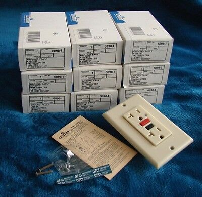 LOT OF 9 LEVINTON -  Ground Fault  Interrupter (GFCI) / IVORY - NEW