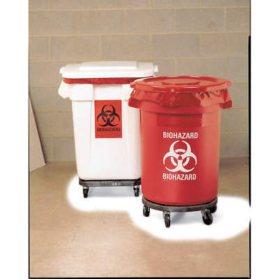 RUBBERMAID Biohazard Waste Container,27-1/4 In. H, FG263294RED