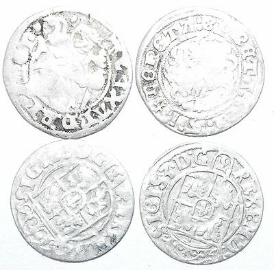Lot Of 4 Medieval Silver Hammered Coins - Ancient Artifact Lovely - H422