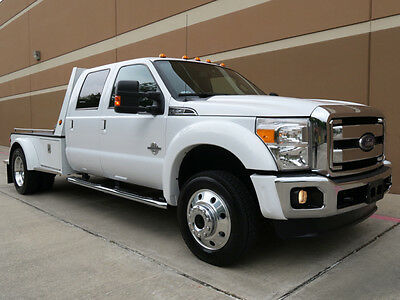2014 Ford F-550 LARIAT CREW CAB DUALLY FLAT BED 6.7L DIESEL 4WD 2014 FORD F-550 SD LARIAT CREW CAB DUALLY FLAT BED 6.7L DIESEL 4WD NAVI 1OWNER