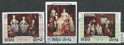 #3076 DUBAI Sc#131-133 Set CTO Children's Day 1970