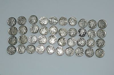 70 Buffalo Head Nickels Mixed Dates All Readable Dates