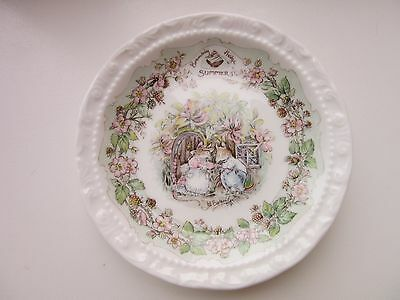 "Royal Doulton Brambly Hedge Summer Plate 4.75"" Diameter"