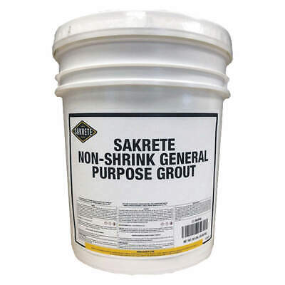 SAKRETE Non-Shrink Grout,50 lb.,Pail, 120025, Gray
