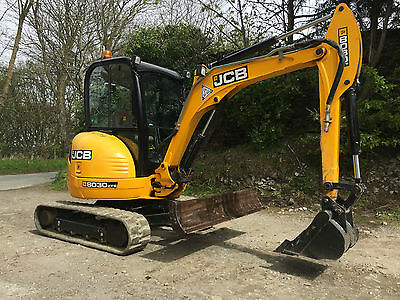 JCB 8030 ZTS 3 Ton Rubber Tracked Mini Digger Excavator 8025, LOW HOURS