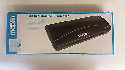 maplin hot and cold A4 laminator